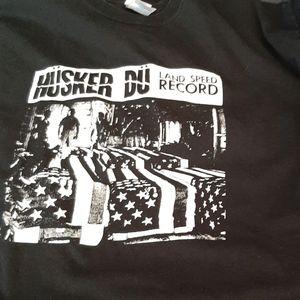 Husker Du Land Speed Record tshirt XL
